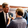Sen. Trent Lott, a member of the 2013 Law Alumni Hall of Fame class, has a boutonniere pinned onto his lapel.