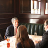Dean Richard Gershon visits with School of Law alumni within the New Orleans area during lunch.